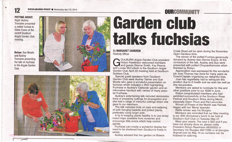 Goulburn Post wrote on 30/4/14