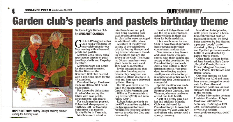Goulburn Post wrote on 16/6/14