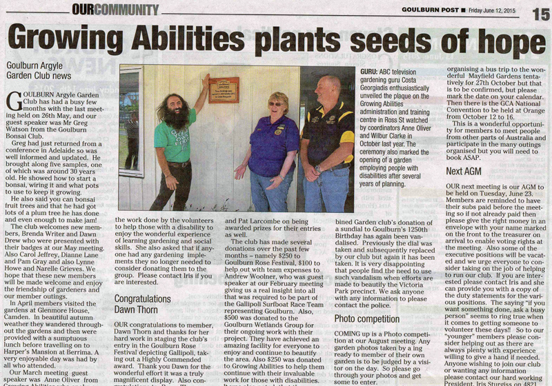 Goulburn Post wrote on 12/6/15