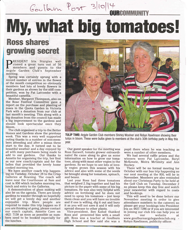 Goulburn Post wrote on 3/10/14
