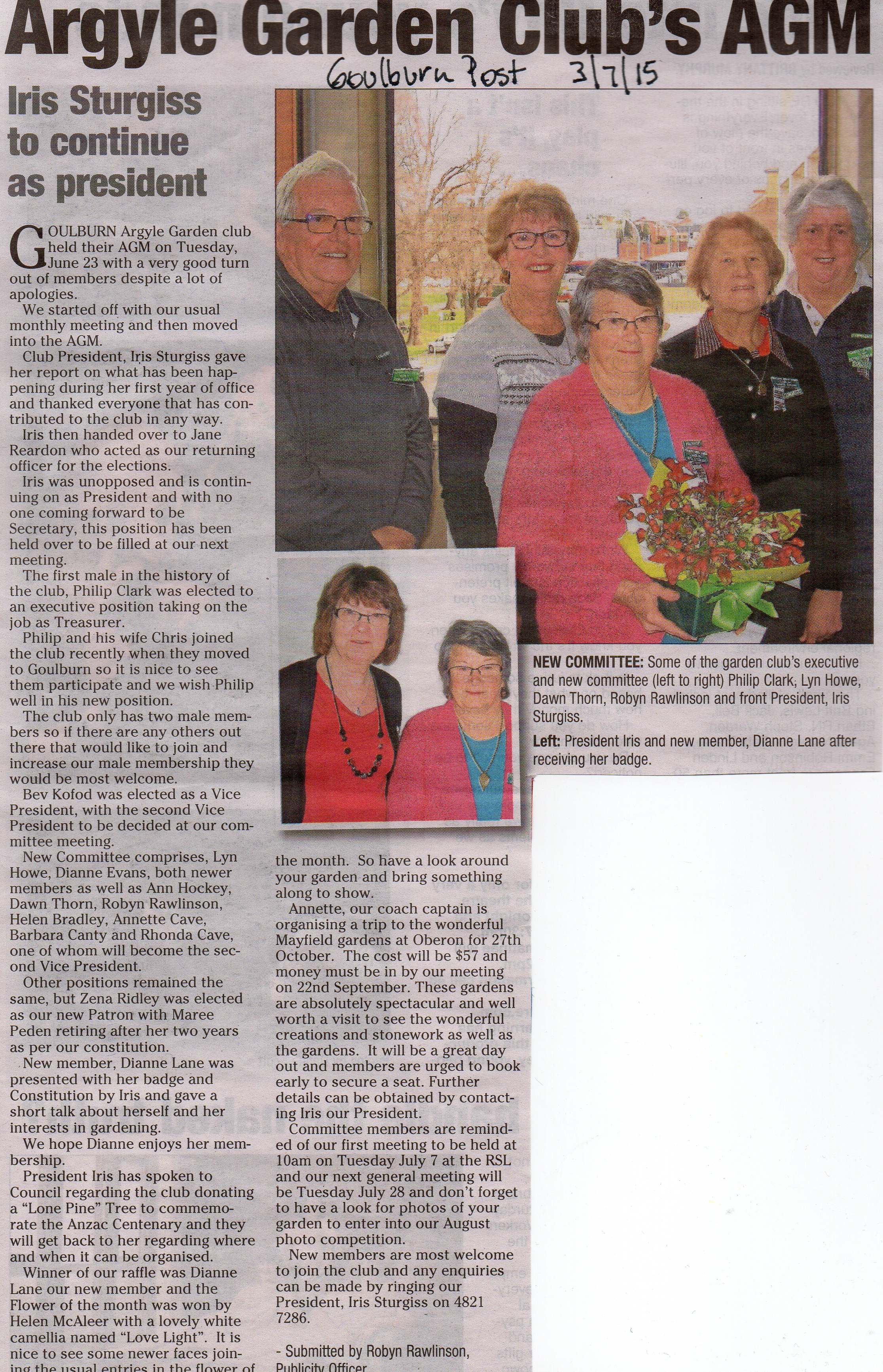 Goulburn Post wrote on 3/7/15